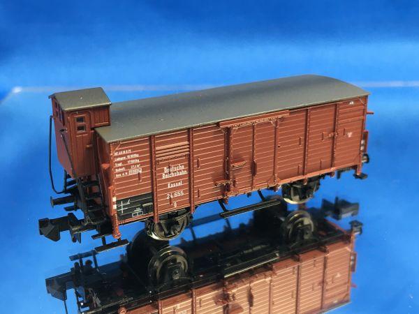 Brawa - 67454 - edeckter Güterwagen G mit Bremserhaus , DRG, Ep.II