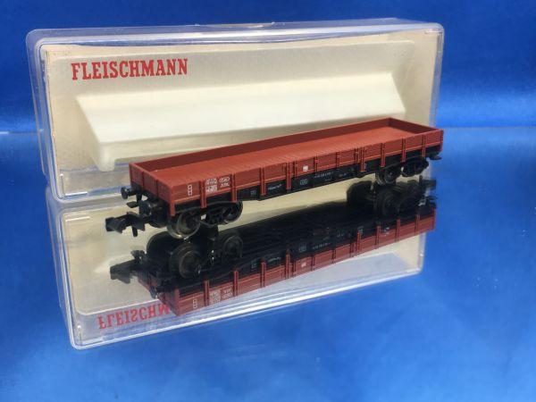 Fleischmann - 8281 - Flachwagen mit Seitenborden (Dienstgüterwagen), Gattung/Bauart XXo 49, 4-achsig, braun