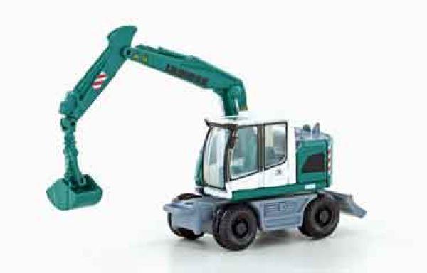 Lemke Minis - LC4256 - Liebherr Compact Bagger grün/weiß m. Greifer