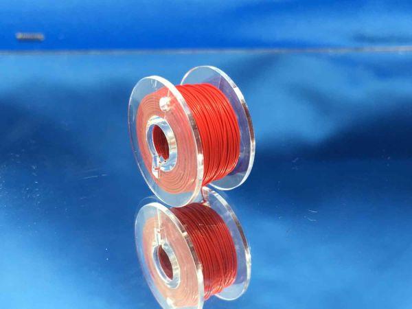 Modellbau Schönwitz - 05-10-01 - 10 Meter Spule Mikrokabel Litze flexibel FEP 0,014mm² rot