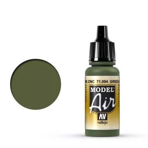 Vallejo Model Air - 71.094  - Green Zinc Chromate (Airbrush Farbe) 17 ml