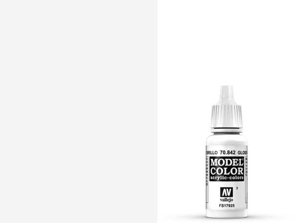 Vallejo - Model Color 003 Glanzweiss (70.842) - 17 ml