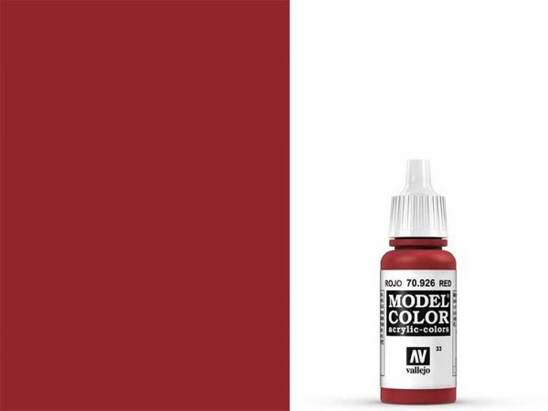Vallejo - Model Color 033 Rot (70.926) - 17 ml