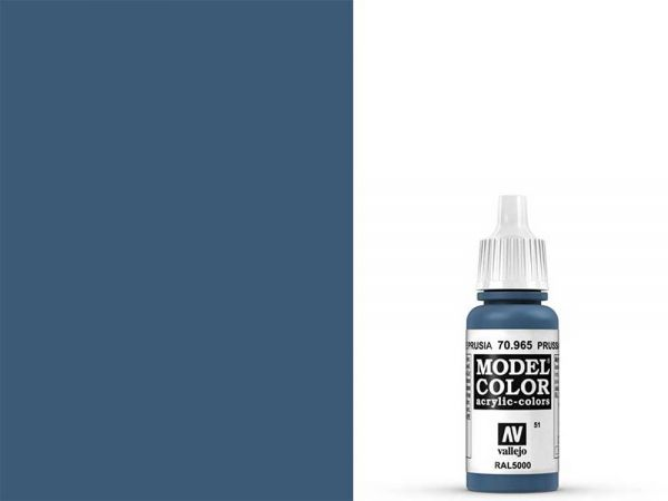 Vallejo - Model Color 051 Preussisch Blau (70.965) - 17 ml