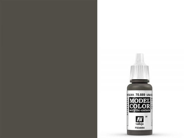 Vallejo - Model Color 091 Olivbraun (70.889) - 17 ml