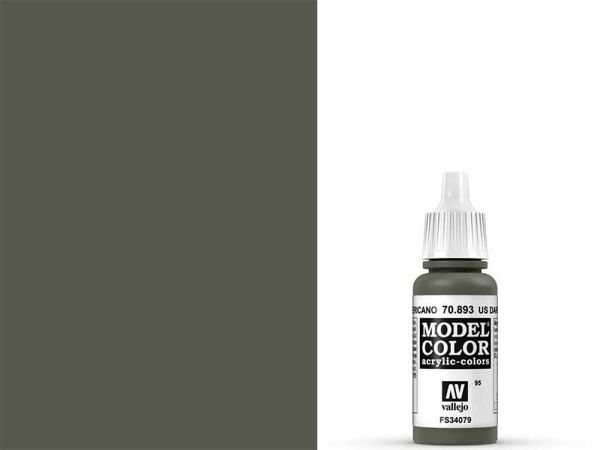 Vallejo - Model Color 095 Dunkelgrün USA (70.893) - 17 ml
