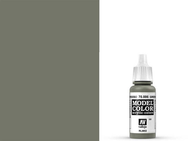 Vallejo - Model Color 101 Grüngrau (70.886) - 17 ml