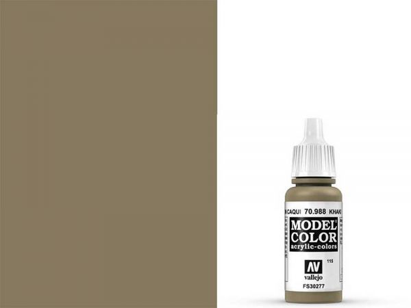 Vallejo - Model Color 115 Khakibraun (70.988) - 17 ml
