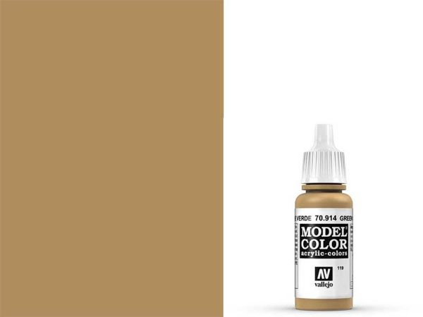 Vallejo - Model Color 119 Grünocker (70.914) - 17 ml