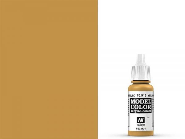 Vallejo - Model Color 121 Ockergelb (70.913) - 17 ml