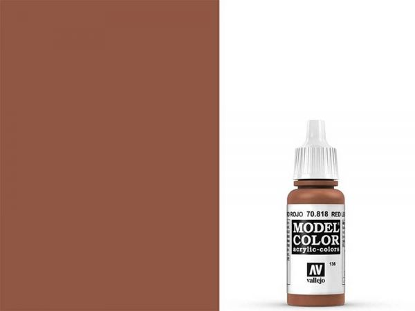 Vallejo - Model Color 136 Rotes Leder (70.818) - 17 ml