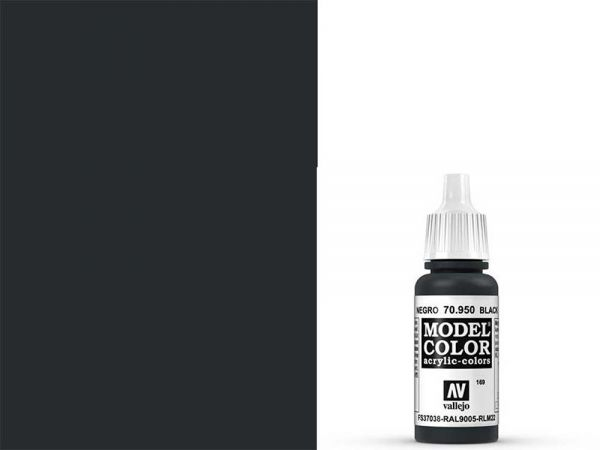 Vallejo - Model Color 169 Signalschwarz (70.950) - 17 ml