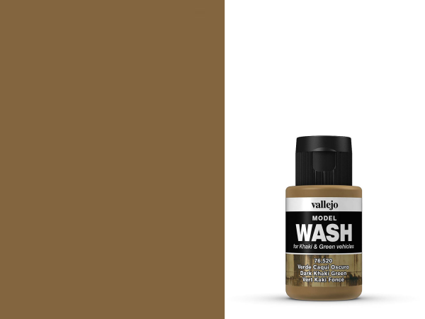 Vallejo Model Wash - Dunkles Khaki Grün 35 ml