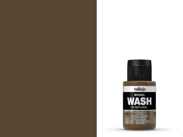 Vallejo Model Wash - Dunkles Braun 35 ml